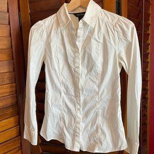 WHBM Tailored white dressy blouse